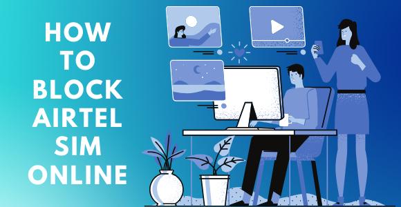 how to block airtel sim online