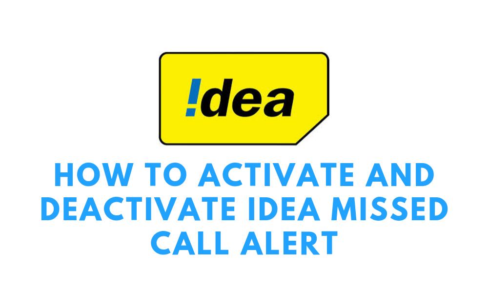 idea missed call alert