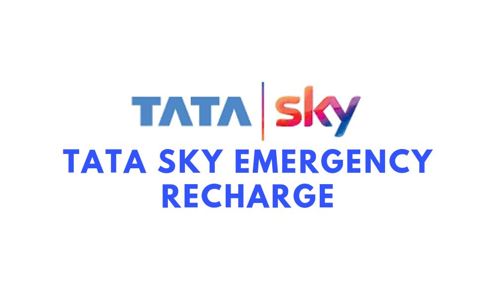 tata sky emergency recharge