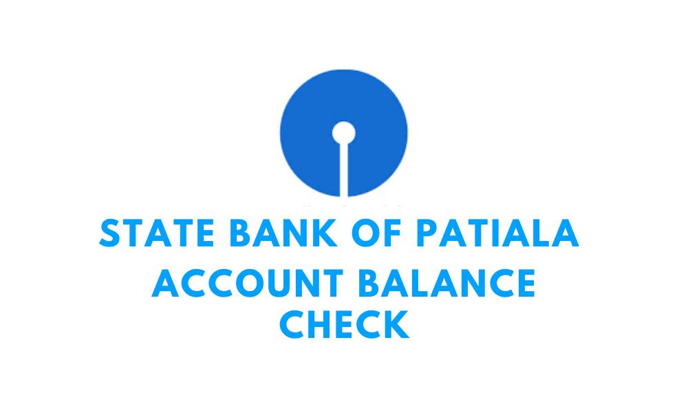 state bank of patiala account balance check